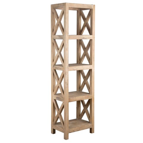 East At Main's Oakely Rubber Wood Bookcase