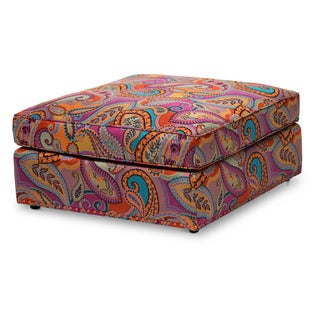Sacramento Ottoman with Orange Nails by Michael Amini