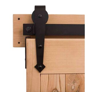 Rustica Hardware Arrow Barn Door Oil Rubbed Bronze Hardware