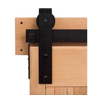 Rustica Hardware Flat Track Industrial Barn Door Hardware
