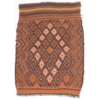 ecarpetgallery Hand-made Shirvan Brown Wool Sumak (3'0 x 3'11)