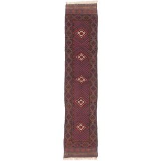 ecarpetgallery Hand-knotted Tajik Caucasian Red Wool Rug (2'1 x 9'5)