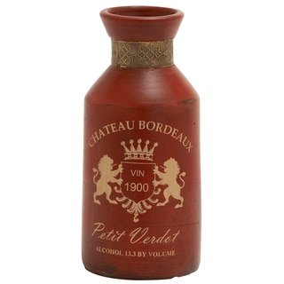 Chateau Bordeaux Terracotta Metal Small Vase