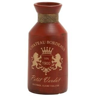 Chateau Bordeaux Terracotta Metal Small Vase