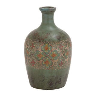 Floral Antique Terracotta Vase