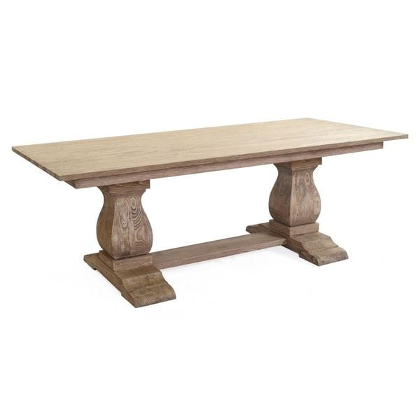 The M Trestle Solid Wood Dining Table