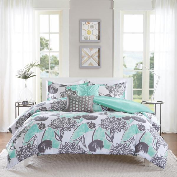 Intelligent Design Lily Aqua 5-piece Duvet Cover Set