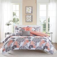 Intelligent Design Lily Coral 5-piece Duvet Cover Set