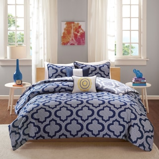 Intelligent Design Elena Navy Reversible 5-piece Comforter Set