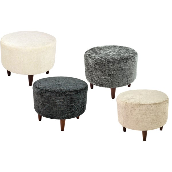 Sophia atlas round upholstered ottoman free shipping for 30 inch round ottoman