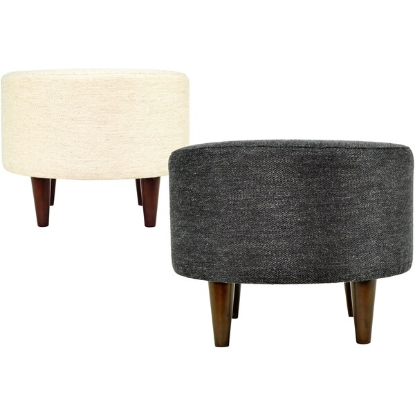 Sophia belfast round upholstered ottoman free shipping for 30 inch round ottoman