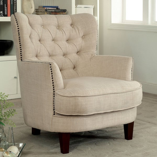 Furniture Of America Maylorie Contemporary Ivory Linen