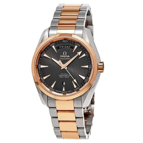 Omega Men's 231.20.42.22.06.001 'Seamaster Aqua Terra' Two-Tone 18kt Rose Gold and Stainless Steel Watch