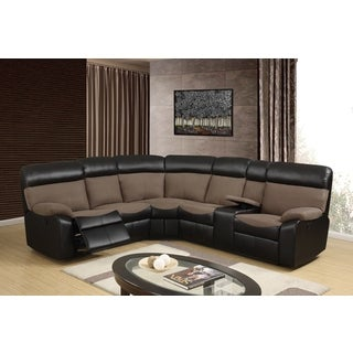Chocolate Microfiber Sectional