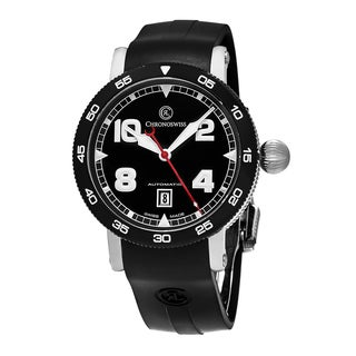 ChronoSwiss Men's CH-8643B 'Time Master' Black Dial Black Rubber Strap Date Swiss Automatic Watch