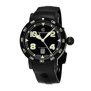 ChronoSwiss Men's CH-8645 'Time Master' Black Dial Black Rubber Strap Date Swiss Automatic Watch
