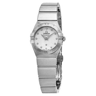 Omega Women's 123.10.24.60.55.004 'Constellation' Mother of Pearl Diamond Dial Stainless Steel Bracelet Swiss Quartz Watch