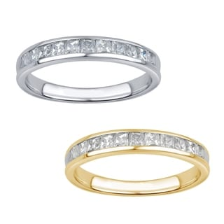 Divina 10k White Gold 1/2ct TDW 11-stone Princess Diamond Wedding Band