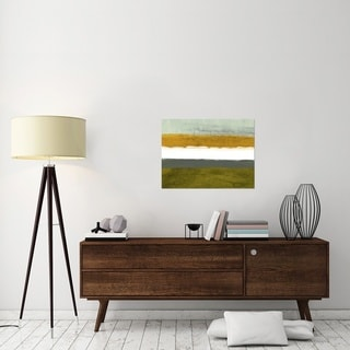 Naxart Studio 'Abstract Stripe Theme Yellow And White' Stretched Canvas Wall Art