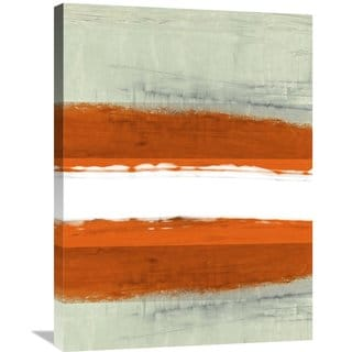 Naxart Studio 'Abstract Stripe Theme White' Stretched Canvas Wall Art