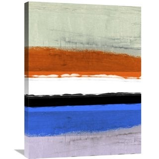 Naxart Studio 'Abstract Stripe Theme White And Black' Stretched Canvas Wall Art