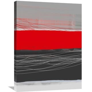 Naxart Studio 'Abstract Stripe Theme Red' Stretched Canvas Wall Art