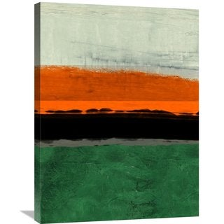 Naxart Studio 'Abstract Stripe Theme Orange' Stretched Canvas Wall Art