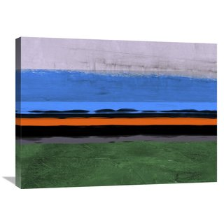 Naxart Studio 'Abstract Stripe Theme Orange And Blue' Stretched Canvas Wall Art