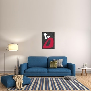 Naxart Studio 'Abstract Oval Shape 9' Stretched Canvas Wall Art