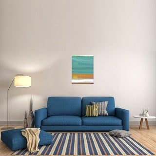Naxart Studio 'Abstract Orange Stripe2' Stretched Canvas Wall Art