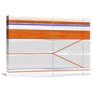 Naxart Studio 'Abstract Orange And Grey' Stretched Canvas Wall Art