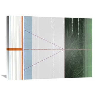 Naxart Studio 'Abstract Orange And Green' Stretched Canvas Wall Art