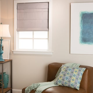 Link to Arlo Blinds Grey Light Filtering Cordless Lift Fabric Roman Shades Similar Items in Blinds & Shades