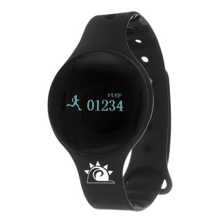 Black Zunammy Slim Round Activity-Tracker Watch with Tap-Screen Display