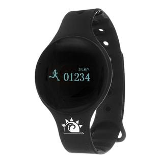 Black Zunammy Slim Round Activity-Tracker Watch with Tap-Screen Display