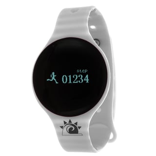 Grey Zunammy Slim Round Activity-Tracker Watch with Tap-Screen Display