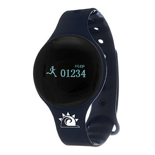 Navy Zunammy Slim Round Activity-Tracker Watch with Tap-Screen Display