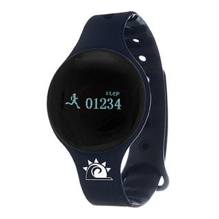 Navy Zunammy Slim Round Activity-Tracker Watch with Tap-Screen Display