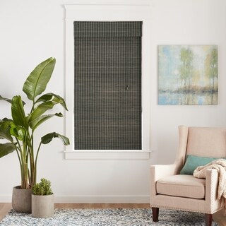 Arlo Blinds Corded Privacy Grey Wash Bamboo Shade