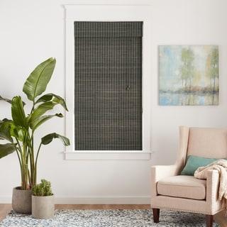 Arlo Blinds Corded Privacy Grey Wash Bamboo Shade