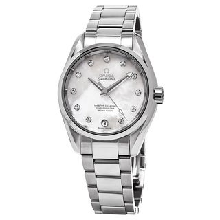 Omega Women's 231.10.34.20.55.002 'Aqua Terra' Mother of Pearl Diamond Dial Stainless Steel Swiss Au