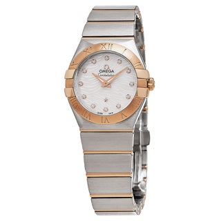 Omega Women's 123.20.27.60.55.007 'Constellation' Mother of Pearl Diamond Dial Steel/Rose Gold Swiss Quartz Watch