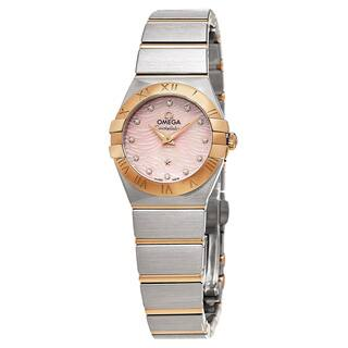 Omega Women's 123.20.24.60.57.003 'Constellation' Pink Mother of Pearl Diamond Dial Two Tone Swiss Q|https://ak1.ostkcdn.com/images/products/11459108/P18416833.jpg?impolicy=medium