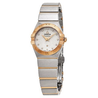 Omega Women's 123.20.24.60.55.007 'Constellation' Mother of Pearl Diamond Dial Two Tone Swiss Quartz Watch