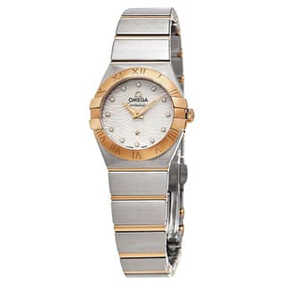 Omega Women's 123.20.24.60.55.007 'Constellation' Mother of Pearl Diamond Dial Two Tone Swiss Quartz|https://ak1.ostkcdn.com/images/products/11459109/P18416834.jpg?impolicy=medium
