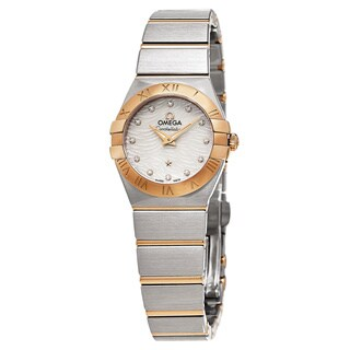 Omega Women's 123.20.24.60.55.007 'Constellation' Mother of Pearl Diamond Dial Two Tone Swiss Quartz