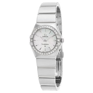 Omega Women's 123.15.27.60.05.001 'Constellation' Mother of Pearl Dial Stainless Steel Diamond Swiss Quartz Watch