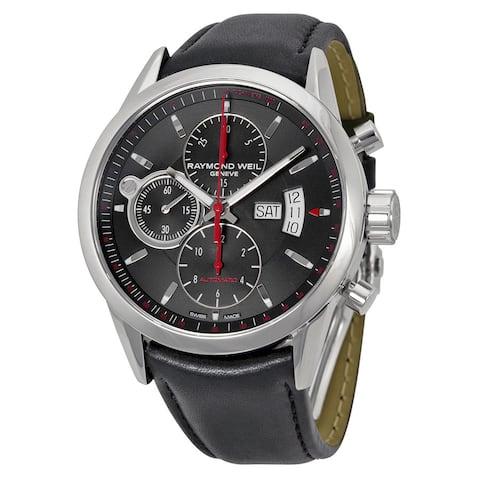 Raymond Weil Men's 7730-STC-60112 'Freelancer' Chronograph Automatic Black Leather Watch