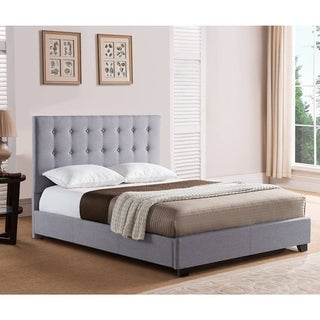 Rize Sebright Full and Queen Size Grey Upholstered Headboard