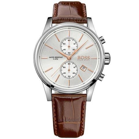 Hugo Boss Men's 1513280 'Jet' Chronograph Brown Leather Watch